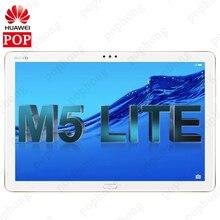"""Küresel ROM orijinal HUAWEI MediaPad M5 lite 10.1 """"Android 8.0 4G RAM 64G ROM Huawei M5 Lite tablet PC parmak izi kilidini"""