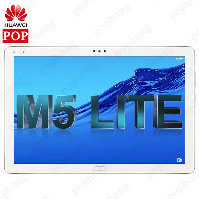 """הגלובלי ROM המקורי HUAWEI MediaPad M5 לייט 10.1 """"אנדרואיד 8.0 4G RAM 64G ROM Huawei M5 לייט tablet PC טביעות אצבע נעילה"""