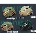 Alta calidad! Tactical gear casco vudú protección exterior de equitación de jibia seca cristal acero Airsoft Paintball cs casco