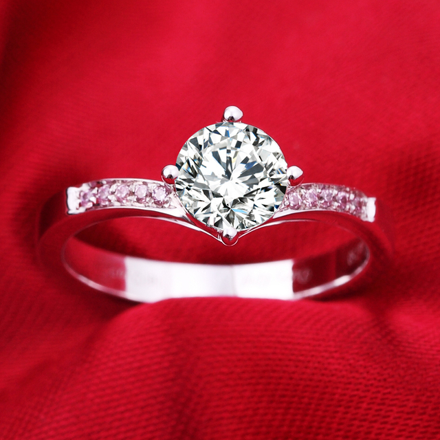 1ct 925 Silver Simulation Nscd Sona Wedding Engagement Diamond Ring