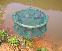 Circular Shape Automatically Open 6 Hole Fishing Cage Precision Workmanship High Quality Fishing Cage Free Shipping