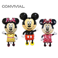 Фотография Large Micky Minnie Mouse Foil Balloon Birthday Theme Kids Party Decor Cartoon Mouse Mylar Balloon Baby Toy CONVIVIAL PA37