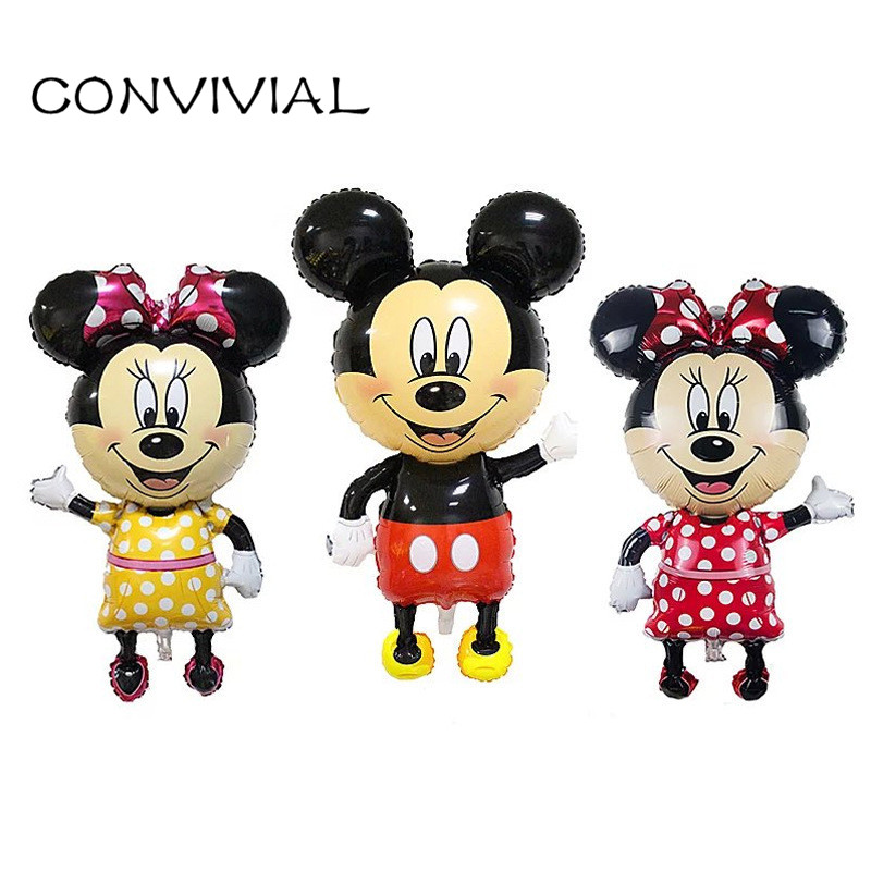 Large Micky Minnie Mouse Foil Balloon Birthday Theme Kids Party Decor Cartoon Mouse Mylar Balloon Baby Toy CONVIVIAL PA37