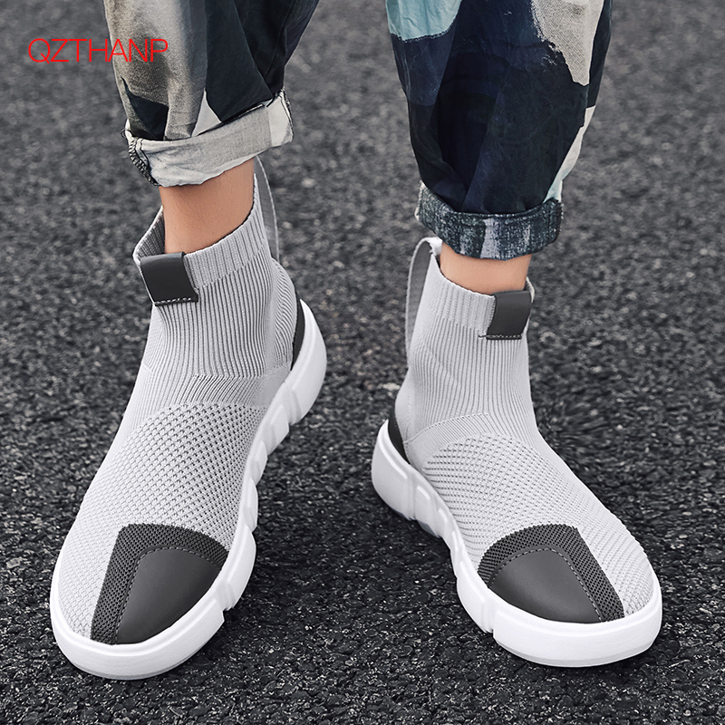 2018 Men Sneakers Casual Shoes Slip On Tenis Masculino Adulto Socks Footwear Weave Mesh Breathable Style Male Adult Lightweight2018 Men Sneakers Casual Shoes Slip On Tenis Masculino Adulto Socks Footwear Weave Mesh Breathable Style Male Adult Lightweight