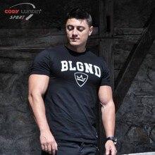 font b Mens b font summer t shirt font b workout b font Fitness Bodybuilding