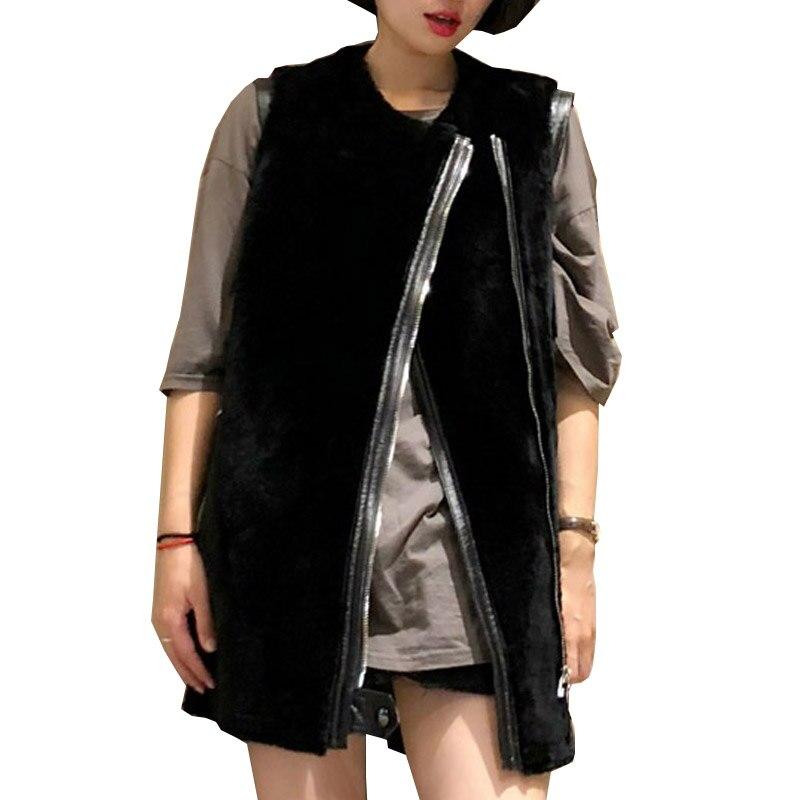 76757be78e6 EI BAWN Winter 2018 Lamb Shearling Jacket Vest Genuine Leather Jacket Plus  Size Black Long Winter Coat Sheep Shearling Jacket -in Leather   Suede from  ...