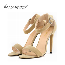 Women Sexy Party Open Toe Thin Heels Pumps Bridal Flock High Heels Shoes Pumps 8 color US SIZE 4-11   102-3VE