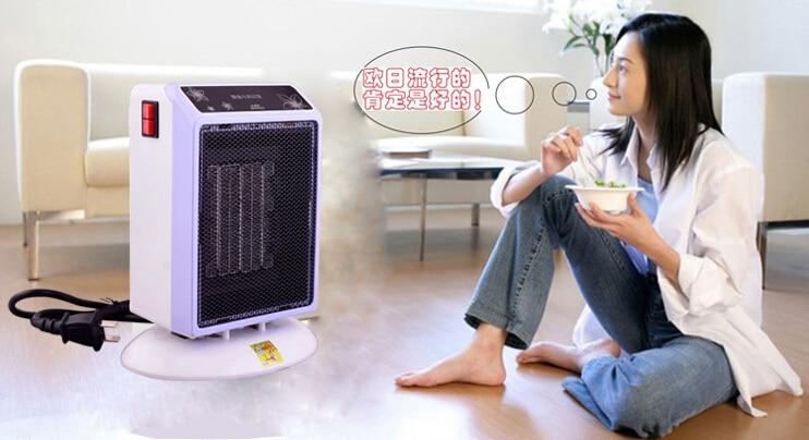 2018 většina módních mini PTC elektrické ventilátory topení 750W / 1000W tři ochrany s přepínačem