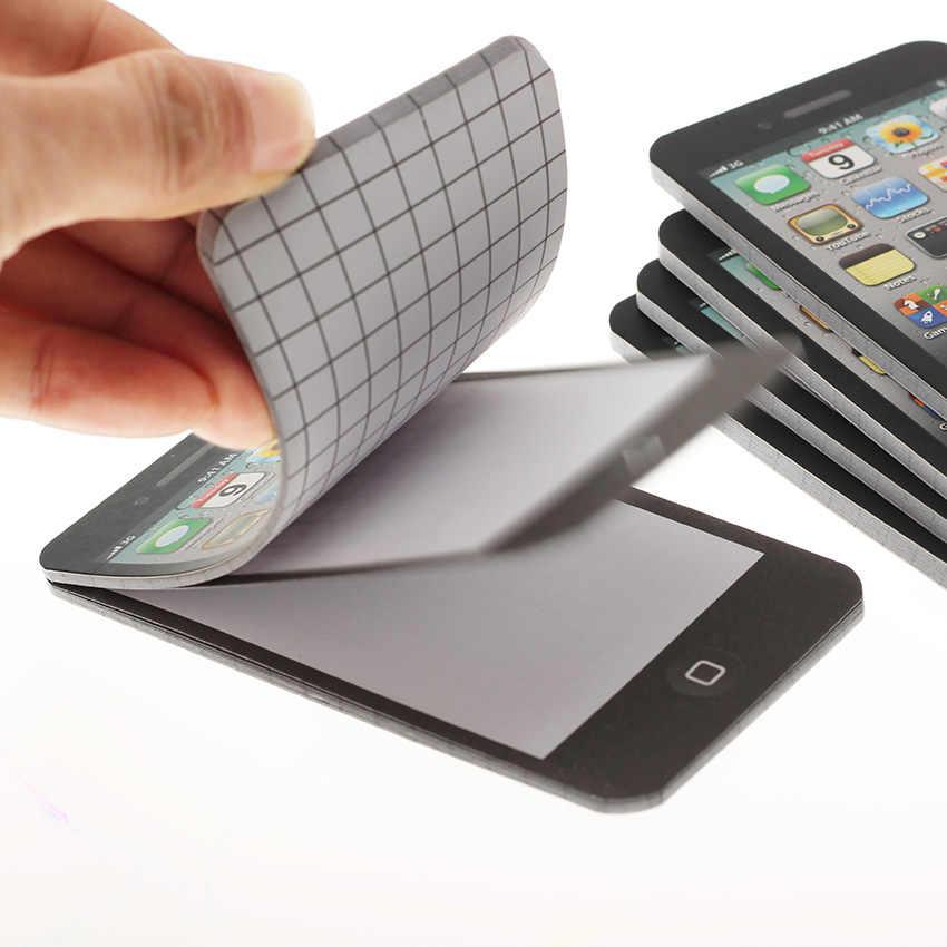 Реалистичные сотовый телефон Note Бумага сотовый телефон образная записка Pad подарок школьные канцелярские принадлежности