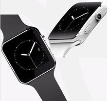 2016ใหม่ดูสมาร์ทบลูทูธX6 S Mart W Atchนาฬิกาสปอร์ตสำหรับip hone A Ndroidโทรศัพท์กับกล้องFMสนับสนุนซิมการ์ดนาฬิกาข้อมือ