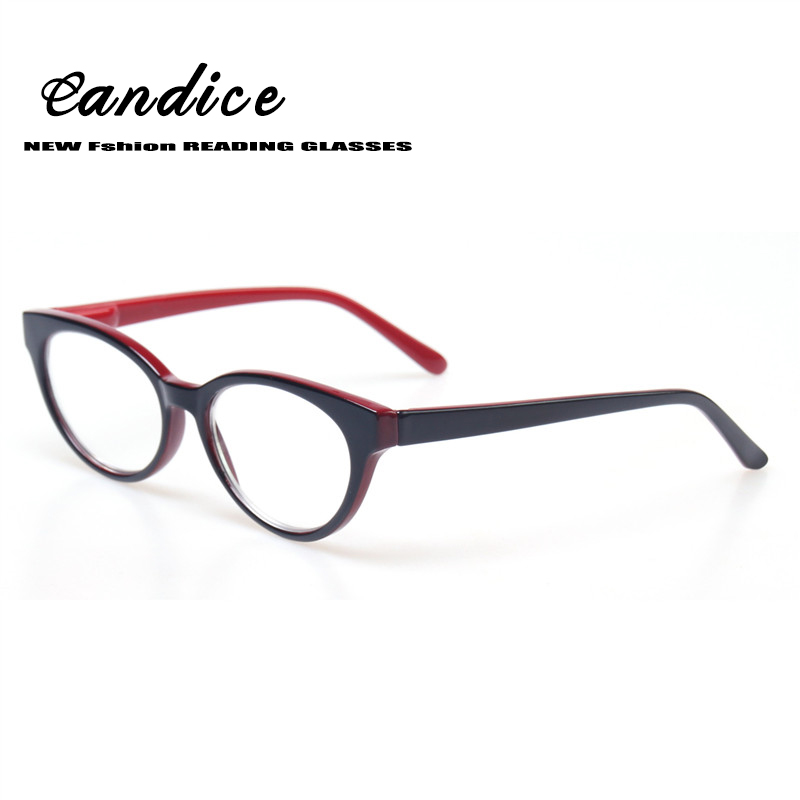 Fashion Femal Cat Eye Glasses Retro Vintage Plastic Frame Reading Glasses Spring Hinge Women Presbyopia Glasses ...