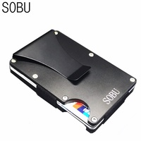 Mini Wallets Men S Business Wallets Metal RFID Wallet Anti Theft Large Capacity Card ID Holders