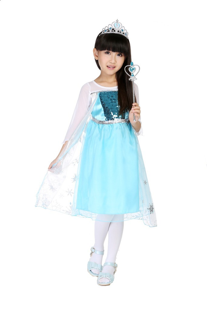 Halloween Costumes For kids Girls Cartoon Costumes Princess Queen Elsa Dress Elsa Costumes Fancy Dress For Disfraces Carnaval