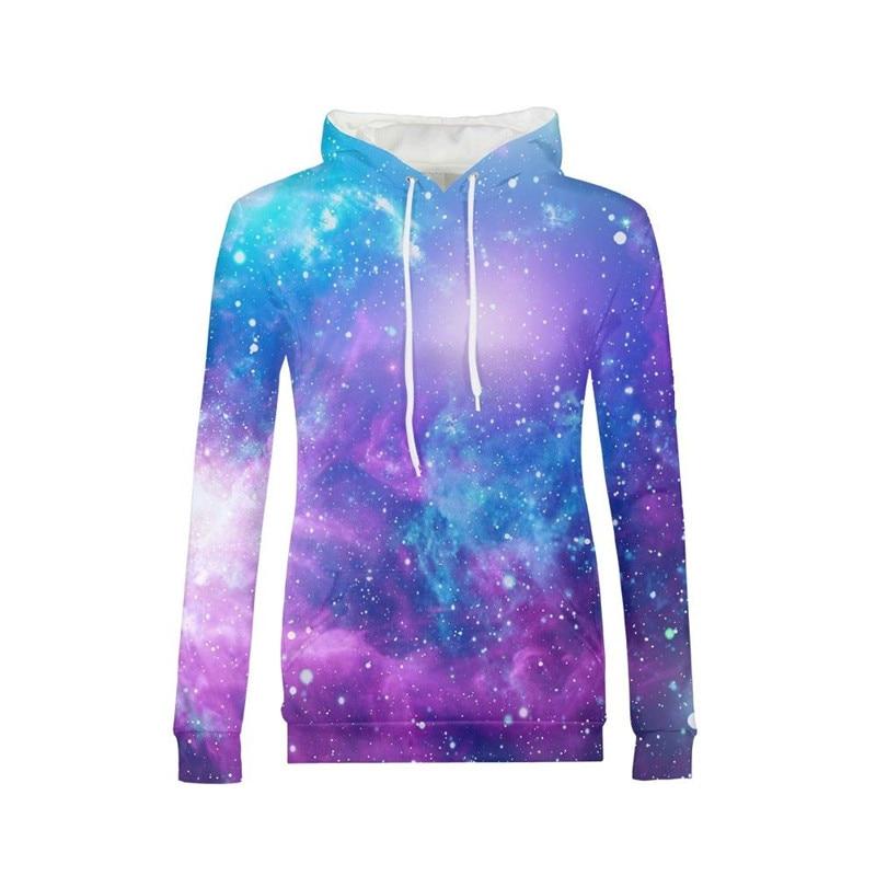 Marque sweat à capuche pour femme mode étoile étoilée nuit 3D veste à capuche imprimée pull à capuche manches longues décontracté sweat Busos Para Mujer