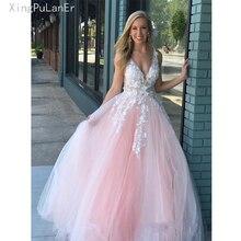 Romantic Fairy Princess Prom Dress 2019 Lace Flowers Embroid