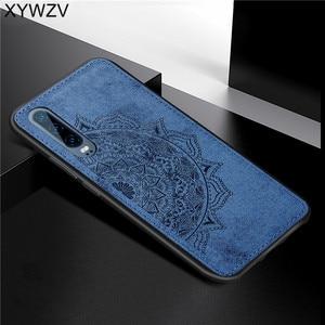 Image 4 - Para Huawei Caso P30 Textura De Pano À Prova de Choque Suave Silicone TPU Phone Case PC Duro Para O Huawei P30 Tampa Traseira Huawei p30 Fundas