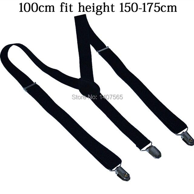 5959c3e96d3 2018 jeans pants trouser with Clip-on Braces Elastic larger Suspenders for  women men 1inch back suspender bulk  Retail 110cm