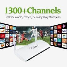 Smart Android TV Box с 1 Год Бесплатной Подписки IPTV Qhdtv арабский Французский Италия Европа Германия 1300 Каналов IPTV Set Top Box