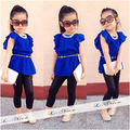 Fashion Children Girl Clothing Set Elasticity Blouse + Legging Pants Baby Girl Clothing Set 1-6 Years Kid Costume Summer Clothes