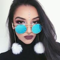 2017 Round Vintage Gothic Steampunk Sunglasses Men Clear Glasses Women Transparent Lens Eyeglasses Spectacle Frame Gafas
