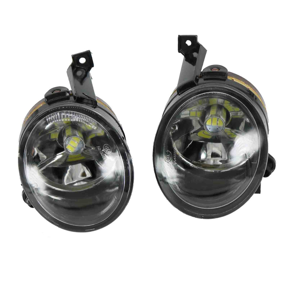 2Pcs Car LED Light For VW Polo Vento Sedan Saloon 2011 2012 2013 2014 2015 2016 Car-Styling LED Fog Light Fog Lamp right side for vw polo vento derby 2014 2015 2016 2017 front halogen fog light fog lamp assembly two holes