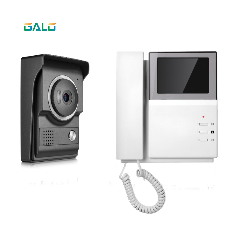 Handset 4.3 Inch Color TFT- LCD Screen Video Door Bell Intercom Camera For House