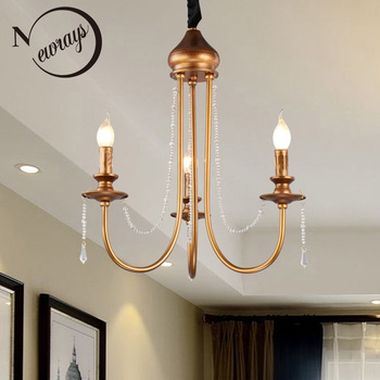 American Vintage iron plated pendant lamp E14 LED pendant light for living room bed room restaurant palor study office cafe bar