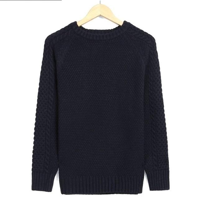 2016 best goods 2016 Men Solid Sweater Thicken Twisted Slim Pullover