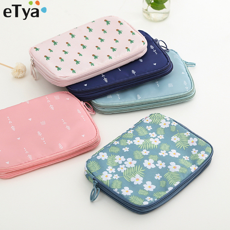 Women Men Travel Passport Cover Wallet Waterproof  Zipper ID Card Charger Data Cable Banknotes Cosmetics Document Holder Bags