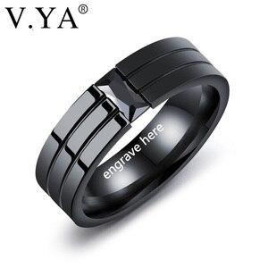 V.YA 2018 New Black Men Rings