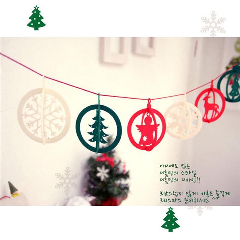 barato de navidad bunting banderas banderas de papel diy verde para sala infantil decoracin banner