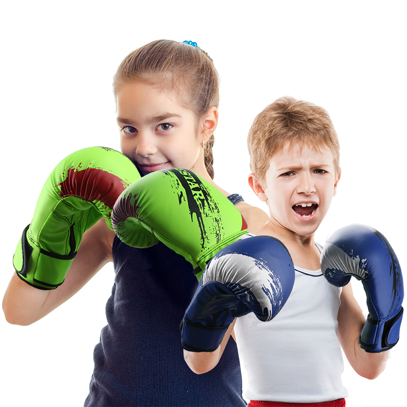 Shiv Naresh Teens Boxing Gloves 12oz: 1 Pair PU Foam Kids Children Kickboxing Kick Box Training