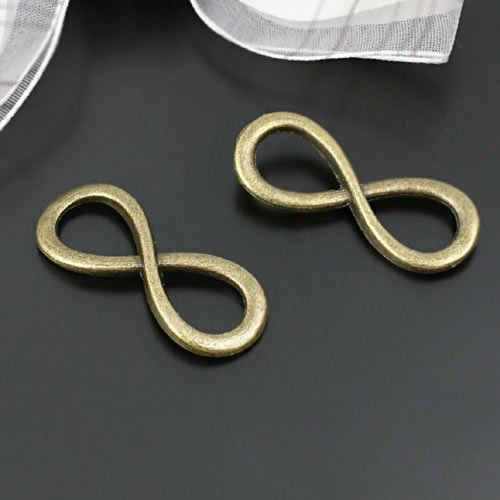 30 шт. 24*8 мм 31*13 мм посеребренные браслеты с символами бесконечности из цинкового сплава Подвески Diy Ювелирные изделия Аксессуары
