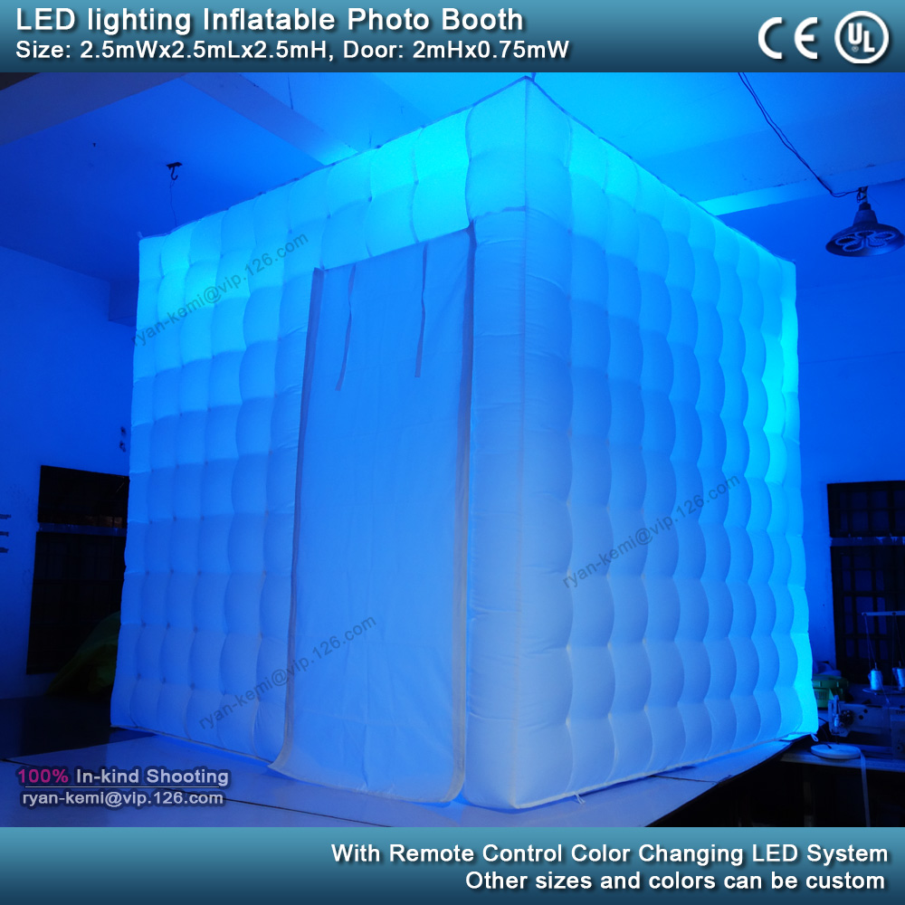 blue-2.5m-8.2ft-inflatable-photo-booth-LED-lighting-portable-inflatable-photo-tent-enclosure-cube-tent-with-blower
