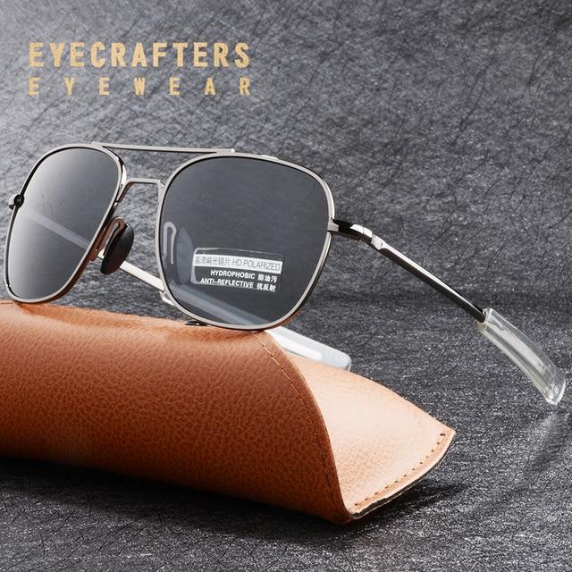 8e014aa75cd9c Novos Óculos De Sol Dos Homens Da Marca Americana de Moda Piloto MILITAR Do  Exército Americano