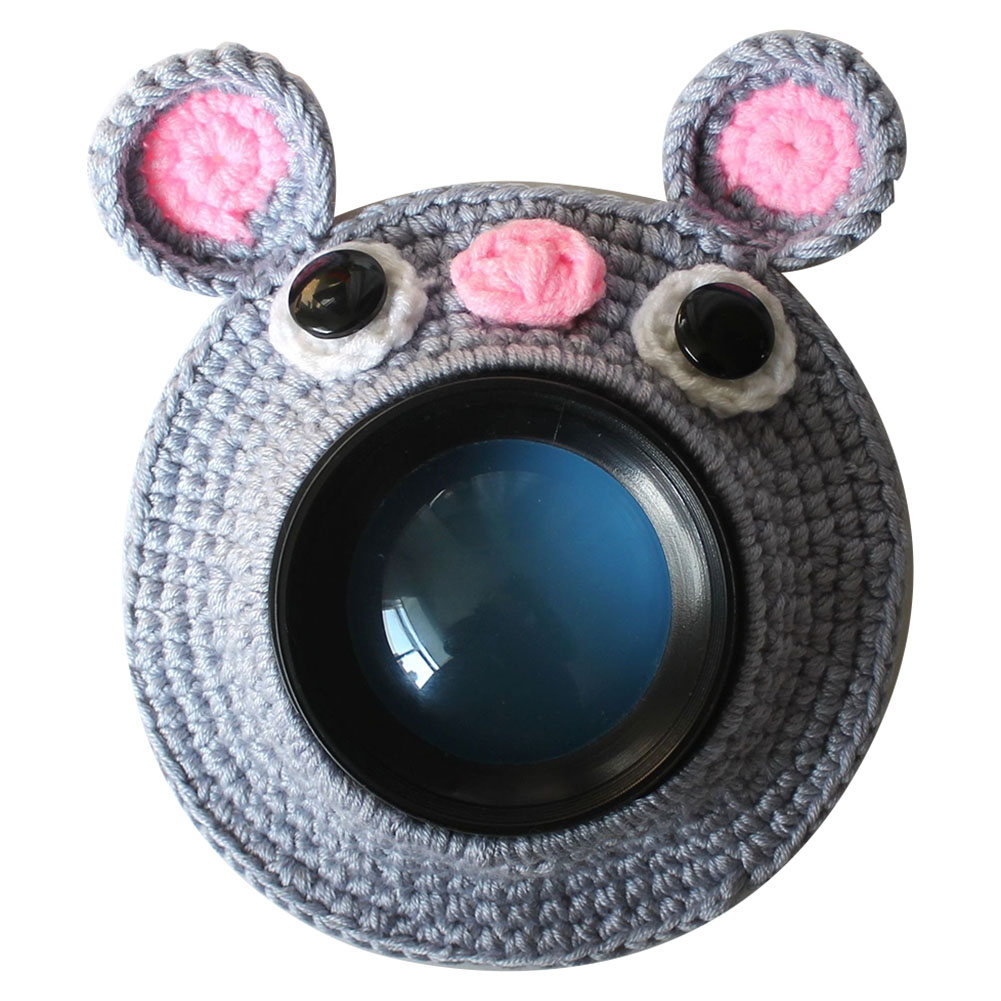Knitted Handmade Kid Posing Lens Accessory Cute Animal Photography Props Camera Buddies Shutter Hugger Teaser Toy Pet Child
