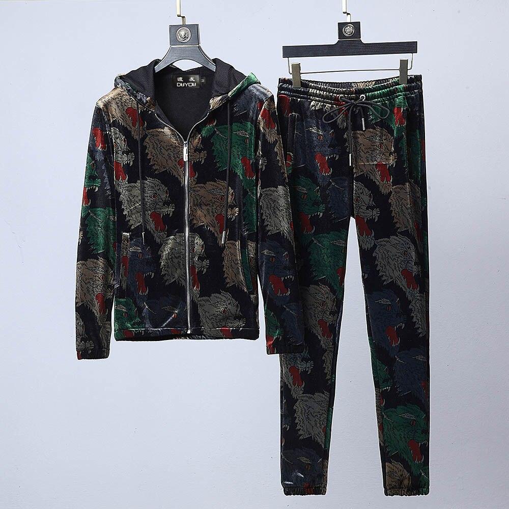 New Mens Designer Survêtement Hommes Vestes et Pantalons Gymnases Ensemble Mâle Automne Deux Pièces Vêtements Casual Survêtement de Sport