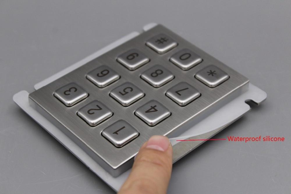 Teclado IP65 100% impermeable teclado de acero inoxidable teclado - Periféricos de la computadora - foto 3