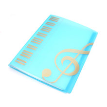 New Music Sheet File Documents Paper Folder Holder Plastic A4 Size 40 Pockets XD88(China)