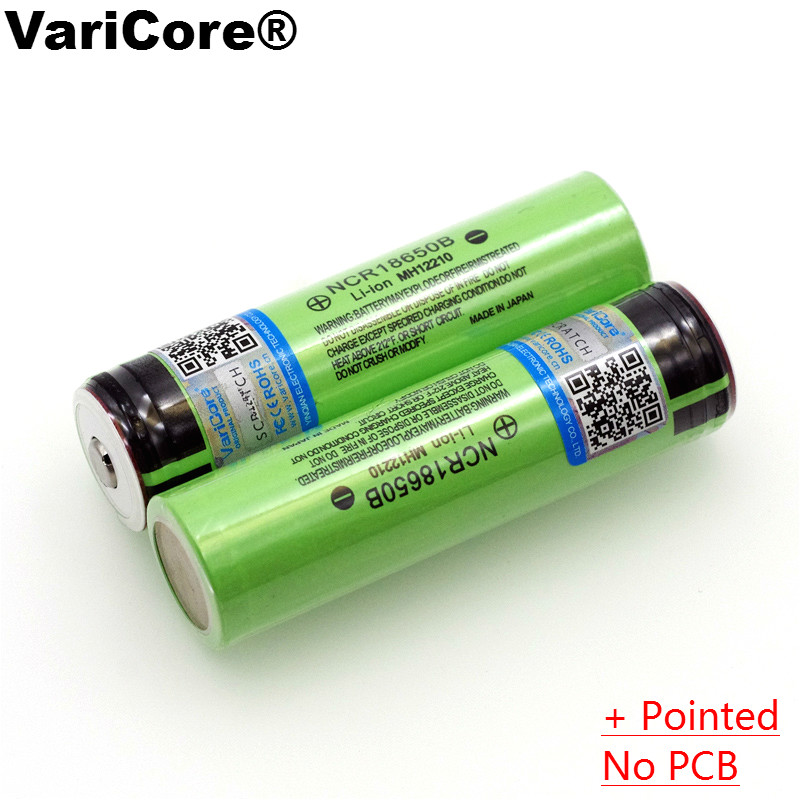 2PCS 2016 100% New Original 18650 NCR18650B 3400mAh 3.7V Li-ion Rechargeable battery + Free shipping