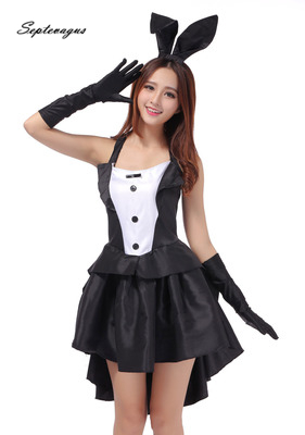 Disfraz Siamese Sexy Uniform Bunny Girls Costume Suits Rabbit Carnival Costumes Halloween Cosplay Stage Costume Night Bar