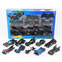 10pcs/box hotwheels mini scale slide model cars classic toy Batman motocicleta car metal hot track kids toys Collection gift