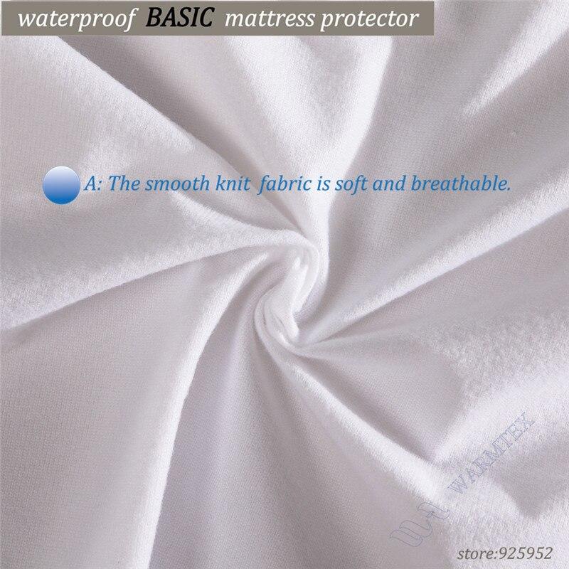 Russian High quality Customized Basic knit Waterproof Mattress Cover/ Mattress Protector 140x200x35ccm fits matress 20cm to 30cm