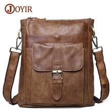 Joyir new arrival genuine leather bags for men handbag casual leather shoulder crossbody bags men's messenger bags 8691