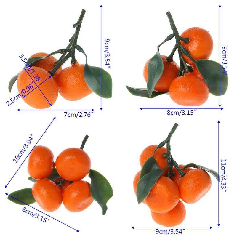 מציאותי כמו בחיים מלאכותי קלמנטינה פירות תפוזים מזויף תצוגת מזון דקור בית המפלגה תפאורה W229