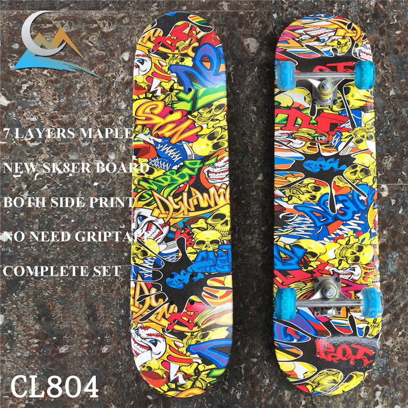 Reasonable Price 31*8 inch Skateboard Completes 7 Layers Skate Board Deck with Trucks Wheels Bearings For Kids or New Skaters non pro skate board7 layers 31 8 inch skate deck 79cm 19cm with 5 trucks wheels bearings skateboard complete set for new sk8ers