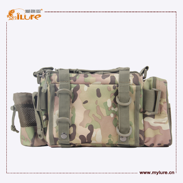 FREE SHIPPING ILURE Fishing Tackle Bag Waterproof Multifunctional Camouflage Waist Pack 24cm*18cm*9cm Large Capacity Tackle box