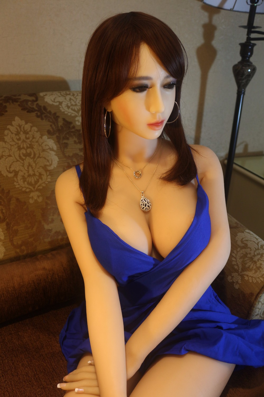 Life size solid real silicone japanese anime sex doll realistic with metal skeleton for men NSM-165NAKED 2