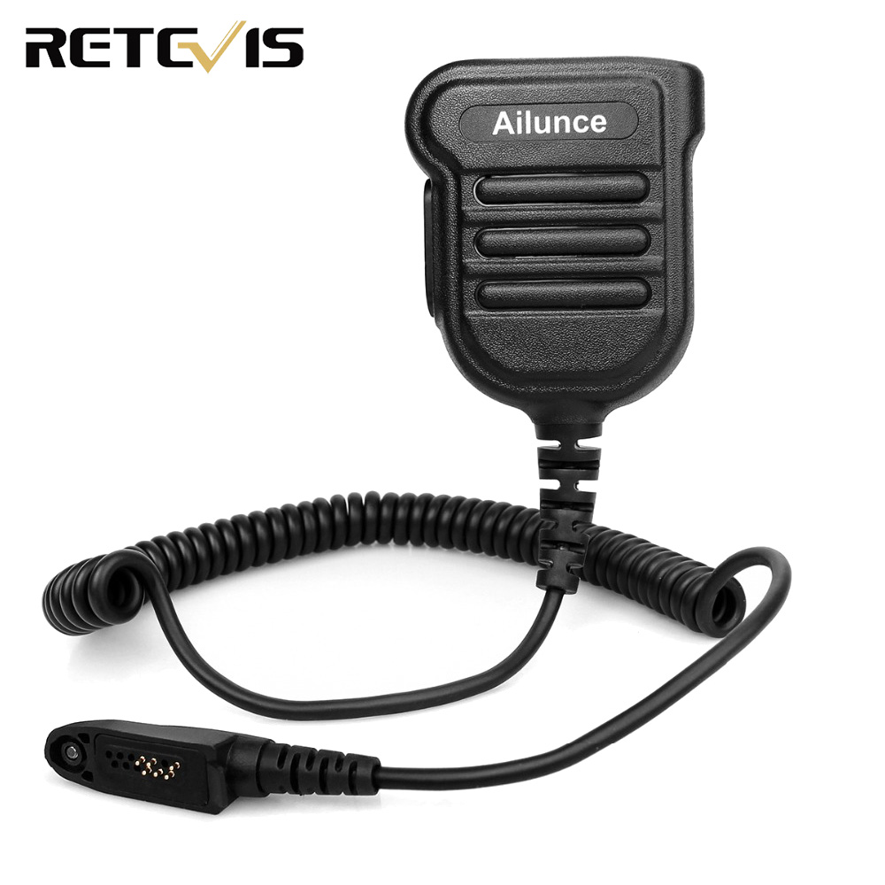 H103M IP67 Waterproof Speaker Microphone For Ailunce HD1 RT29 RT87 RT82 Dual Band DMR Digital Radio Walkie Talkie