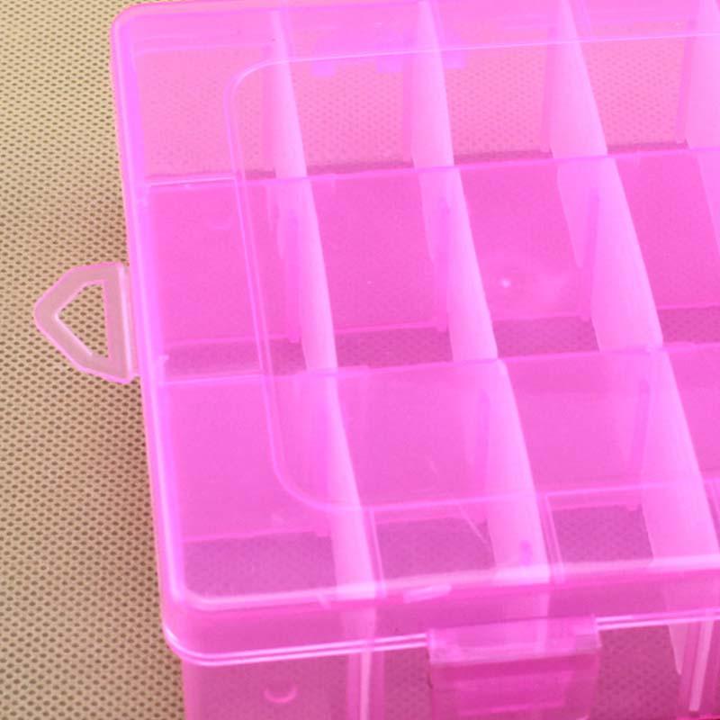 Venta 1PC Nuevo 24 Compartimentos Ajustable Caja de almacenamiento de - Organización y almacenamiento en la casa - foto 6